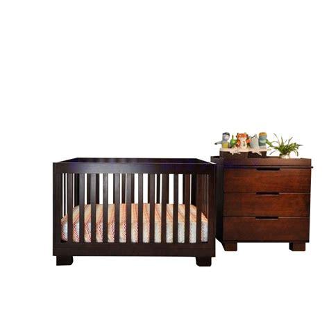 Espresso Baby Crib Sets Babyletto Modo 3 In 1 Convertible Wood Crib Set In Espresso M6701q M6723q Pkg