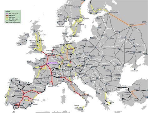 europe trains map
