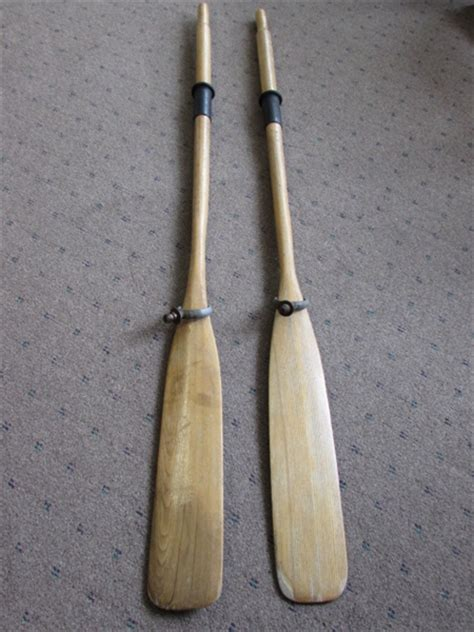 boat oars locks lot detail row row row your boat a pair of wooden