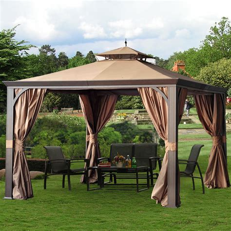 10x12 gazebo sunjoy montgomery 10 x 12 gazebo outdoor living