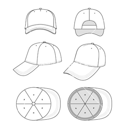 hat design template blank baseball hat template www pixshark images