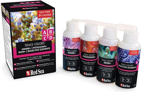 Sea Trace Colors D Bioactive Elements Supplement Coral Color D sea coral colors program trace colors a b c d supplement 4 pack ebay