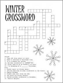 free coloring pages of winter crosswords
