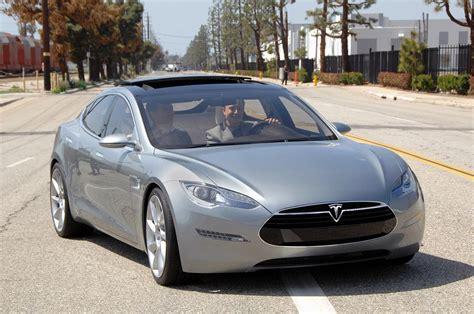 tesla electric car new tesla model s electric car revealed official details