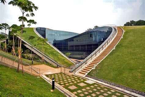 green roof greenroofs com projects nanyang technological university ntu school of art design and media