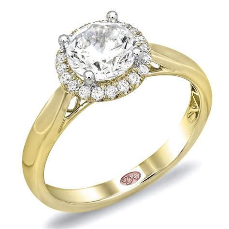 Gold Engagement Rings by Yellow Gold Halo Engagement Rings Brilliant And
