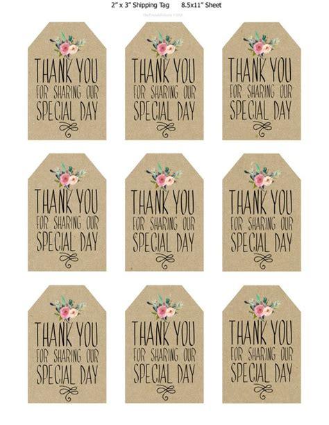 Printable Wedding Favor Tags Thank You Printable Tags Free Printable Wedding Thank You Tags Templates