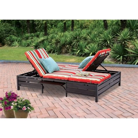 outdoor double chaise lounge clearance double telescope casual primera person sling patio