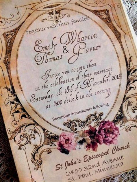 Handmade Vintage Wedding Invitations - vintage wedding invitation suite handmade sle