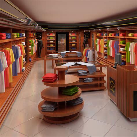 clothing store interior  men  women render ready