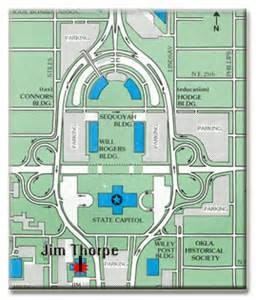 oklahoma state capitol map