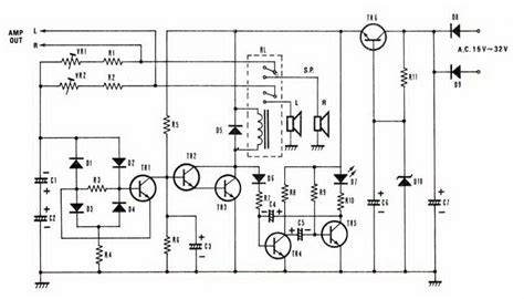 Speaker Protektor speaker protector circuit with dc protection ic schematics