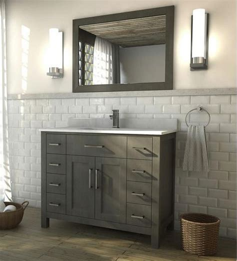 kent building supplies bathroom vanities kent 42 inch french gray finish bathroom vanity city