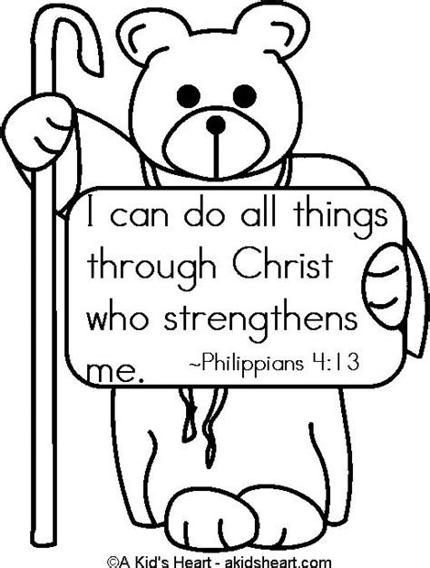 Coloring Page For Philippians 4 13 by Bible Verses Coloring Pages And Coloring On
