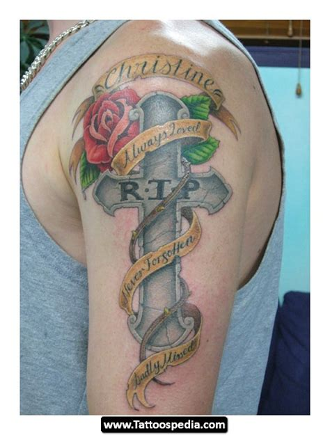 rip cross tattoo r i p cross tattoos designs tattoospedia