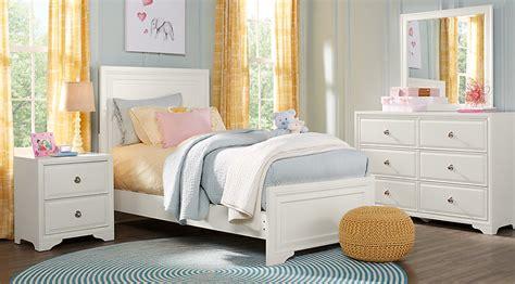 belcourt jr white  pc full panel bedroom teen bedroom sets colors