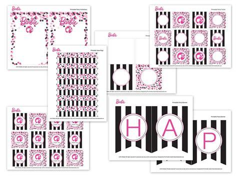 Free Printable Barbie Birthday Decorations | barbie birthday party with free printable barbie designs