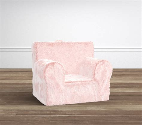 faux fur chair pink pink faux fur my anywhere chair 174 pottery barn
