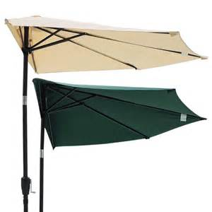Patio Half Umbrella 10ft Outdoor Patio Half Umbrella Wall Balcony Bistro Door Sun Shade Aluminum Opt Ebay