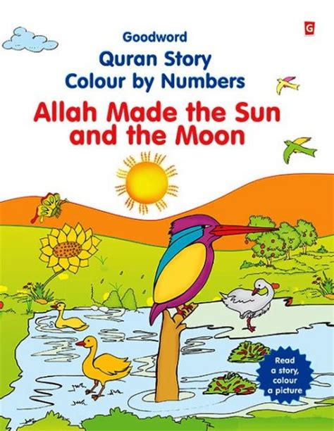 numbers and the in the moon books allah made the sun and the moon colour by numbers