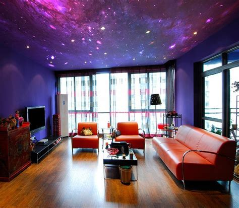 galaxy wallpaper for bedroom fancy galaxy wallpaper on ceiling by fototapeta4u pl