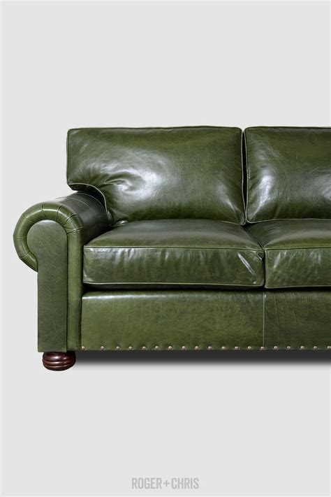 green leather sectional sofa best 25 green leather sofa ideas on pinterest green