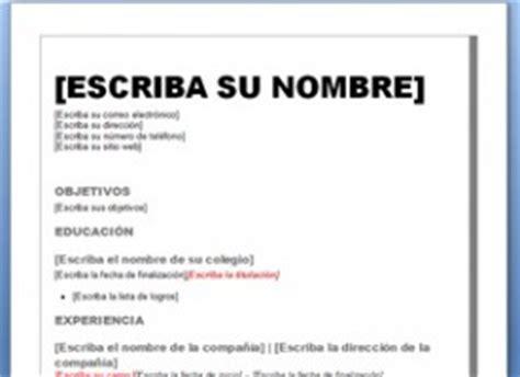 Plantilla De Curriculum Vitae Basico Curr 237 Culum Vitae Moderno Plantillas Cv