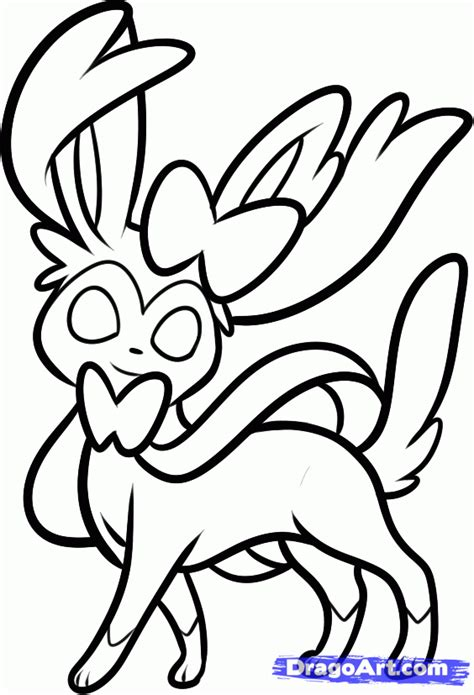 pokemon coloring pages sylveon sylveon free coloring pages