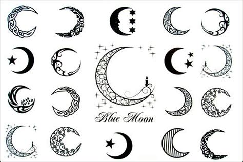 moon tattoo designs tribal crescent moon