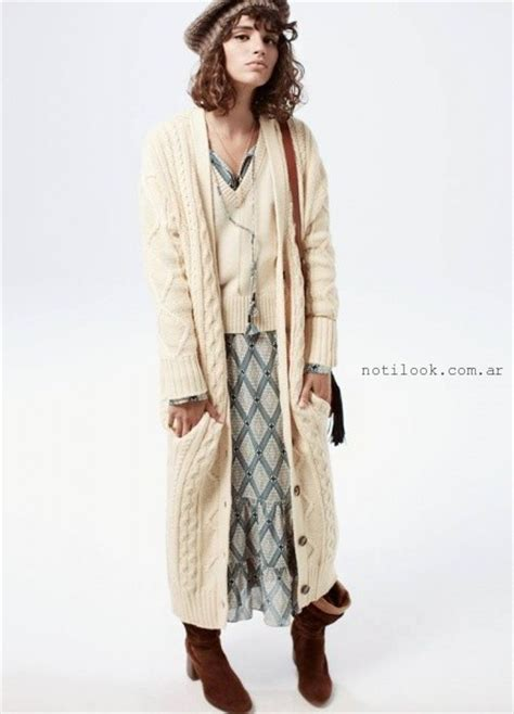 sacos largos tejidos 2015 2016 abrigos largos invierno 2016