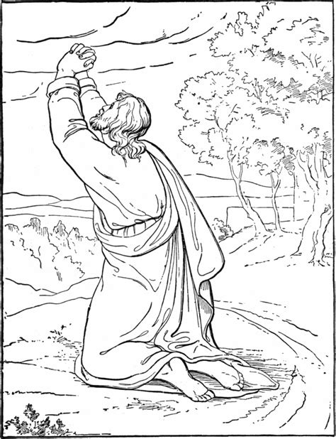 coloring pages jesus in gethsemane bible coloring book