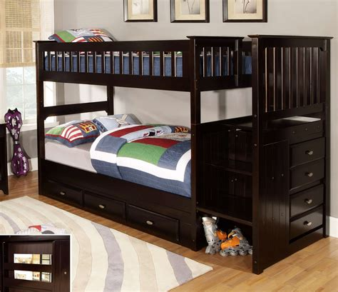 espresso bunk beds discovery world furniture twin over twin espresso