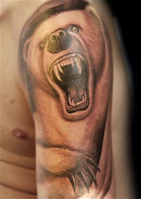 polar bear tattoo designs angry animal