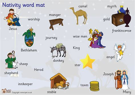 ks2 biography wordmat teacher s pet nativity word mat free classroom display