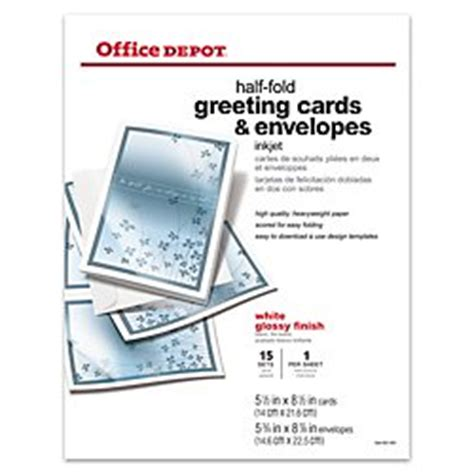 Half Fold Greeting Card Paper - office depot r brand premium greeting cards