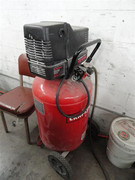 lot  craftsman  gallon hp gas electric air compressor wirebids