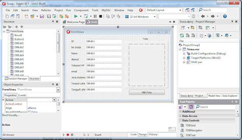 membuat form login delphi dengan database access catatan harian orang teknik membuat database siswa