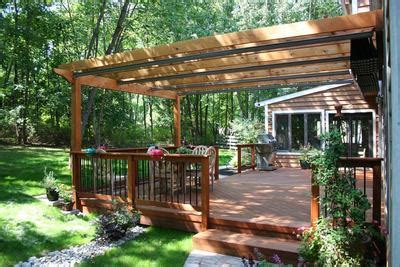 build a l shade pergola for wood deck st louis decks screened porches