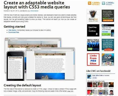 media queries tutorial css tricks 55 best responsive web design tutorials ginva