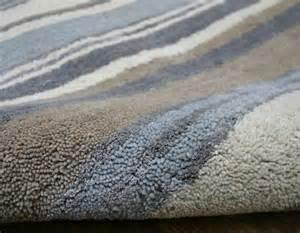 Striped Runner Rug Stripes Luxury Wool Runner Blue Grey Cream Rug