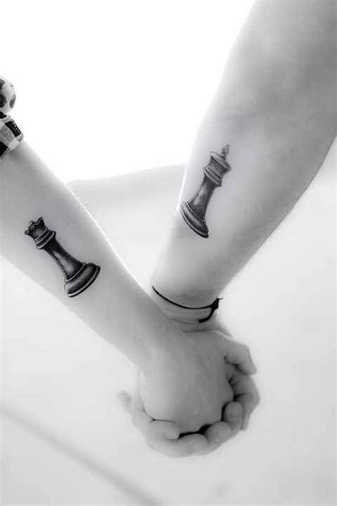 tattoo couple echec chess king and queen couple tattoo tattoo ideas