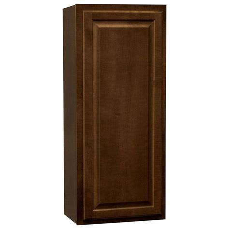 hton bay cognac cabinets hton bay hton assembled 18x42x12 in wall kitchen