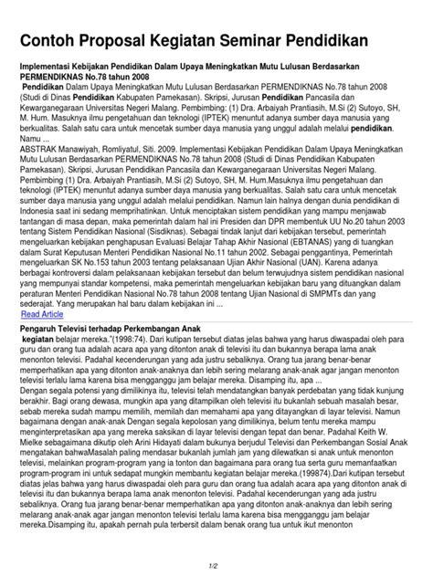 format proposal skripsi universitas negeri malang contoh proposal kegiatan seminar pendidikan
