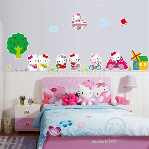 hello kitty bedroom decor kt cat hello kitty bedroom decor wall sticker for girls