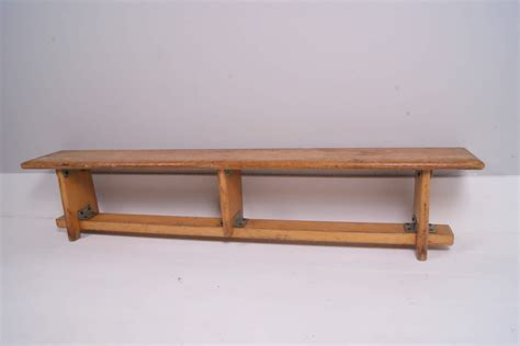 bench school children s vintage wooden school bench blue ticking