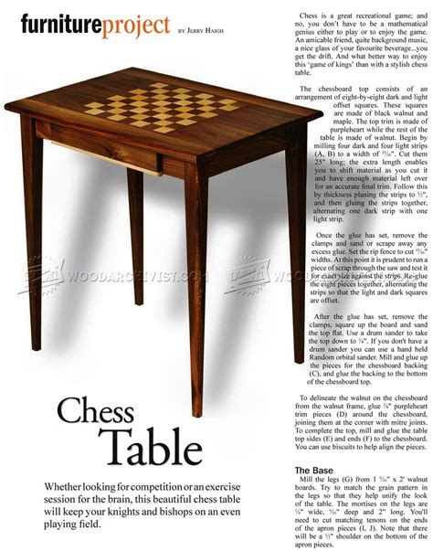 chess table woodworking plans woodworking plans chess table
