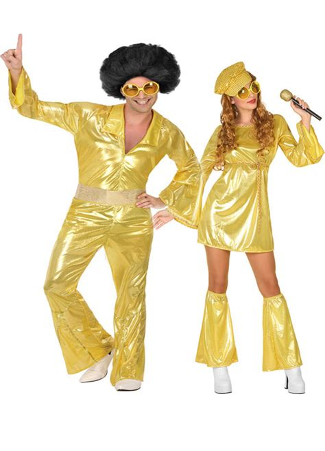 main adults costumes disco costumes for couple gold coloured disco couple costume for adults couples