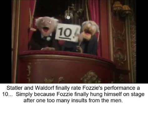 Statler And Waldorf Meme - statler and waldorf finally rate fozzie s performance a 10