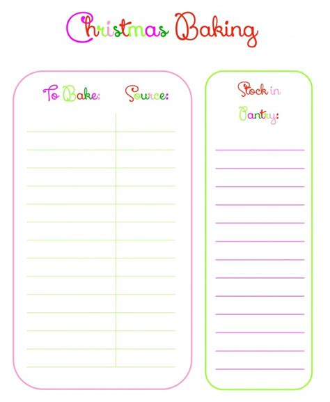 printable holiday baking list have an organized christmas with a free planner ask anna