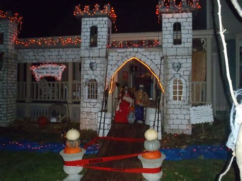 little house design ideas little house well done halloween street outdoor decorating ideas night about four